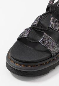 Dr. Martens - NARTILLA  - Platform sandals - gunmetal/iridescent - 2