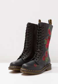 Dr. Martens - VONDA 14 EYE BOOT - Lace-up boots - black/rose - 3