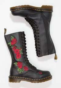 Dr. Martens - VONDA 14 EYE BOOT - Lace-up boots - black/rose - 2