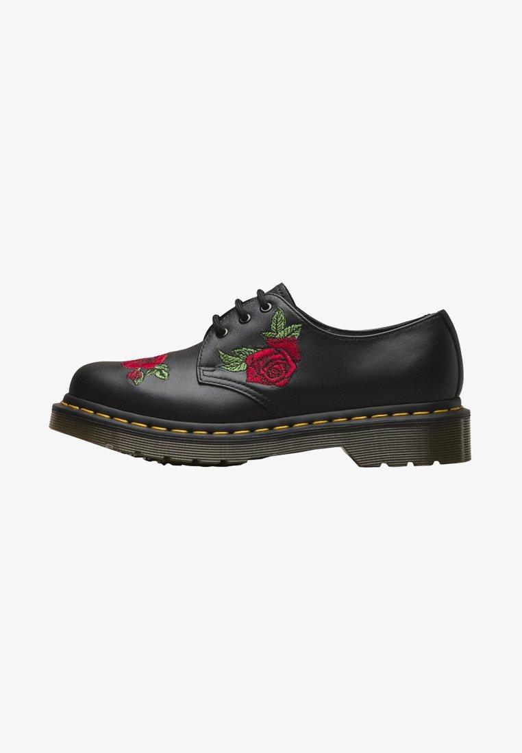 Dr. Martens - 1460 VONDA 3 EYE SHOE EMBROIDERY  - Zapatos de vestir - black