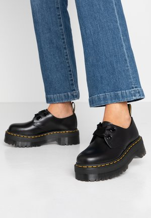 HOLLY - Lace-ups - black buttero