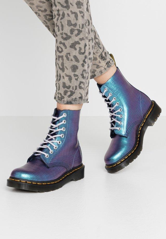1460 PASCAL - Šněrovací kotníkové boty - blue iridescent