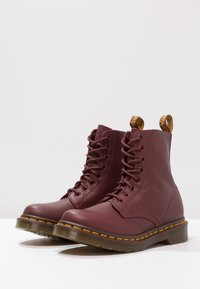 Dr. Martens - 1460 PASCAL 8 EYE BOOT  - Lace-up ankle boots - cherry red - 3