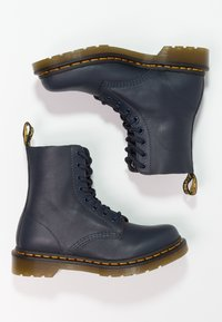 Dr. Martens - 1460 PASCAL 8 EYE BOOT  - Lace-up ankle boots - dress blue - 2