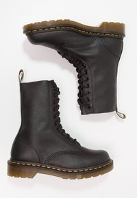 Dr. Martens - 1490 10 EYE VIRGINIA - Lace-up ankle boots - black - 2