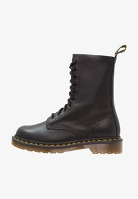 Dr. Martens - 1490 10 EYE VIRGINIA - Lace-up ankle boots - black - 1