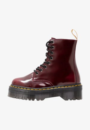 VEGAN JADON II - Lace-up ankle boots - cherry red