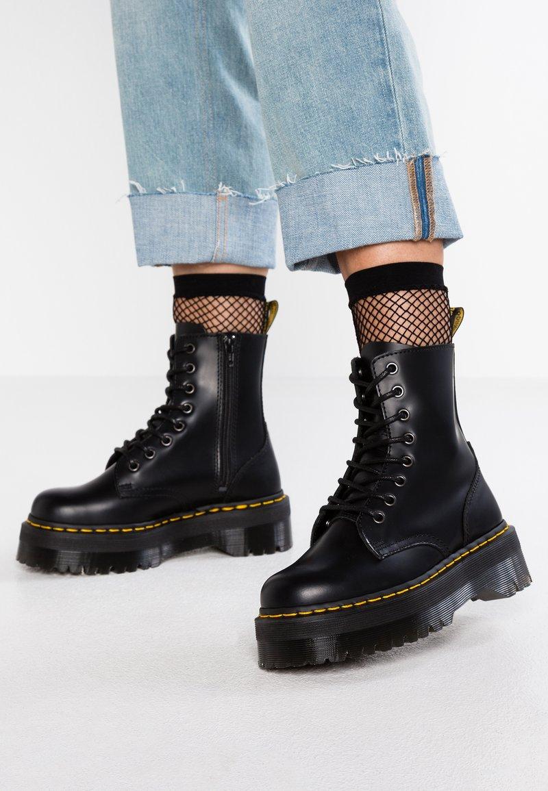 Dr. Martens - JADON ZIP - Platform ankle boots - black