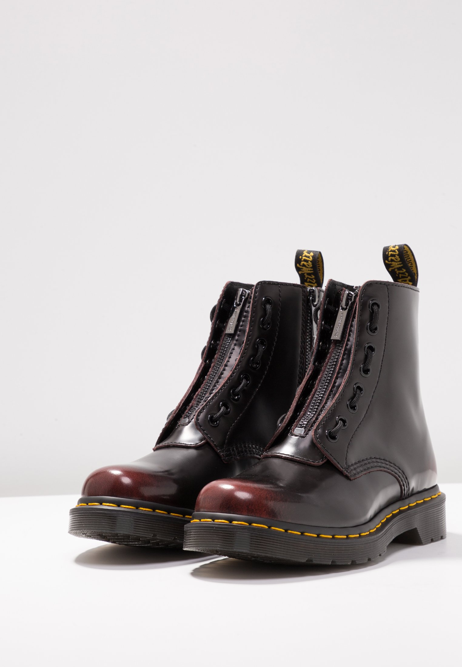 1460 PASCAL FRNT ZIP 8 EYE BOOT Bottines à lacets cherry red arcadia