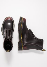 Dr. Martens - 1460 PASCAL FRNT ZIP 8 EYE BOOT - Lace-up ankle boots - cherry red arcadia - 3