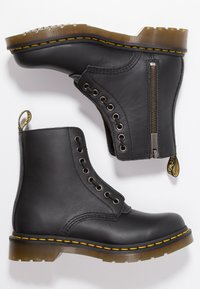 Dr. Martens - 1460 PASCAL FRNT ZIP 8 EYE BOOT - Lace-up ankle boots - black - 3