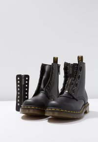 Dr. Martens - 1460 PASCAL FRNT ZIP 8 EYE BOOT - Lace-up ankle boots - black - 7