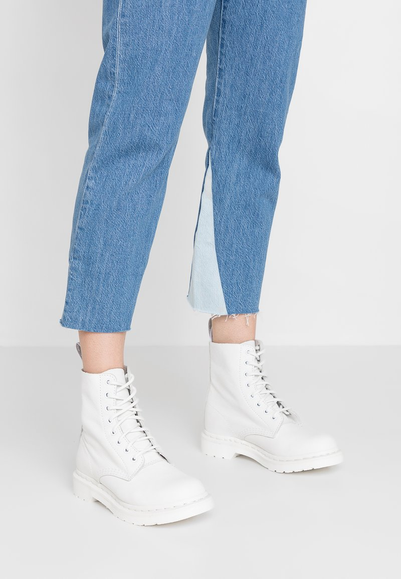 Pascal Virginia À Lacets Mono 8 Eye White 1460 DrMartens BootBottines 8nwNm0