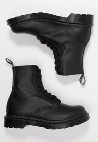 Dr. Martens - 1460 PASCAL MONO 8 EYE BOOT - Lace-up ankle boots - black virginia - 3