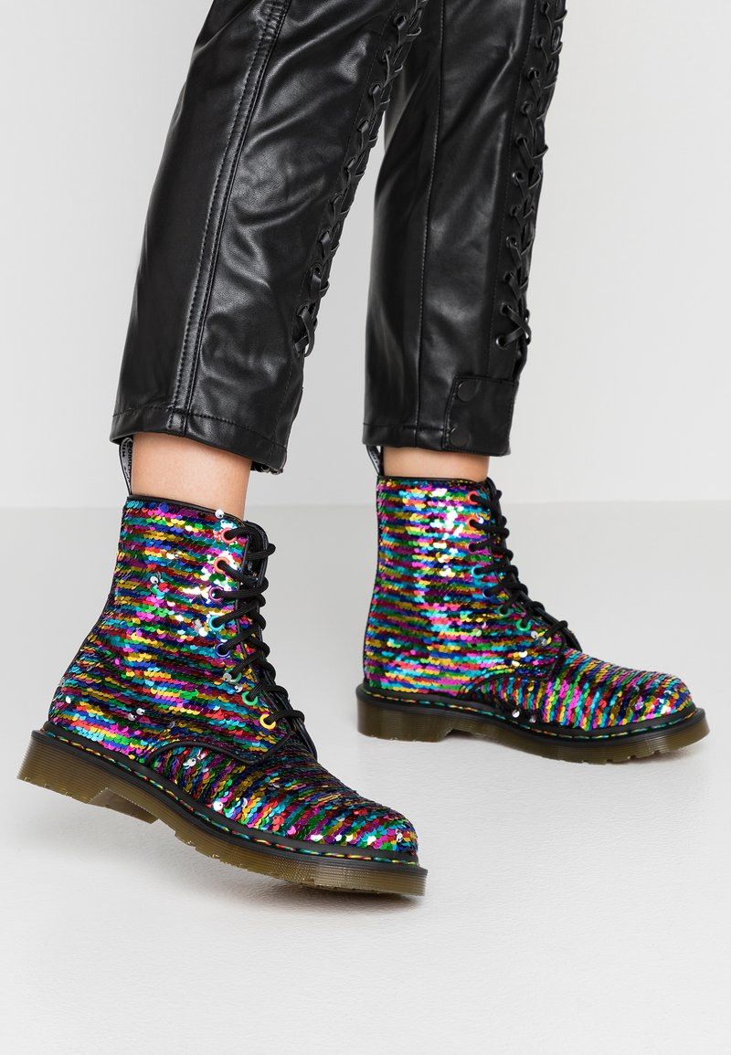 Dr. Martens - 1460 PASCAL SEQN 8 EYE BOOT - Lace-up ankle boots - multicolor/silver/black