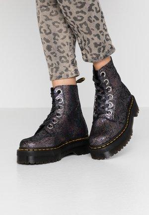 MOLLY - Platform ankle boots - gunmetal iridescent
