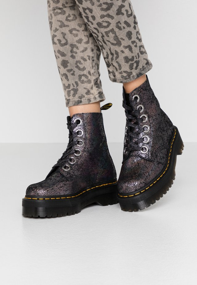 MOLLY - Plateaustiefelette - gunmetal iridescent