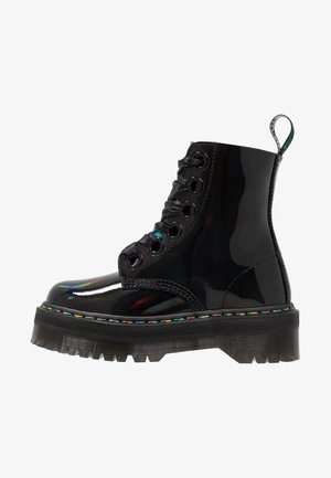MOLLY - Bottines à lacets - black rainbow