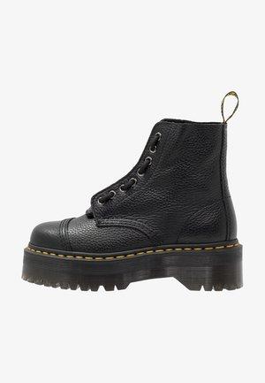 SINCLAIR - Platform ankle boots - black/aunt sally