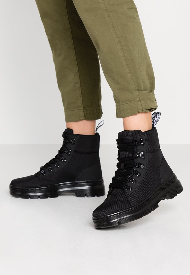 COMBS - Bottines à plateau - black