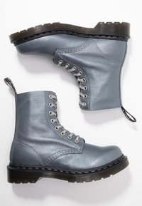 Dr. Martens - 1460 PASCAL - Bottines à plateau - gunmetal/metallic virginia - 3