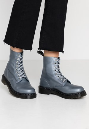 1460 PASCAL - Platform ankle boots - gunmetal/metallic virginia