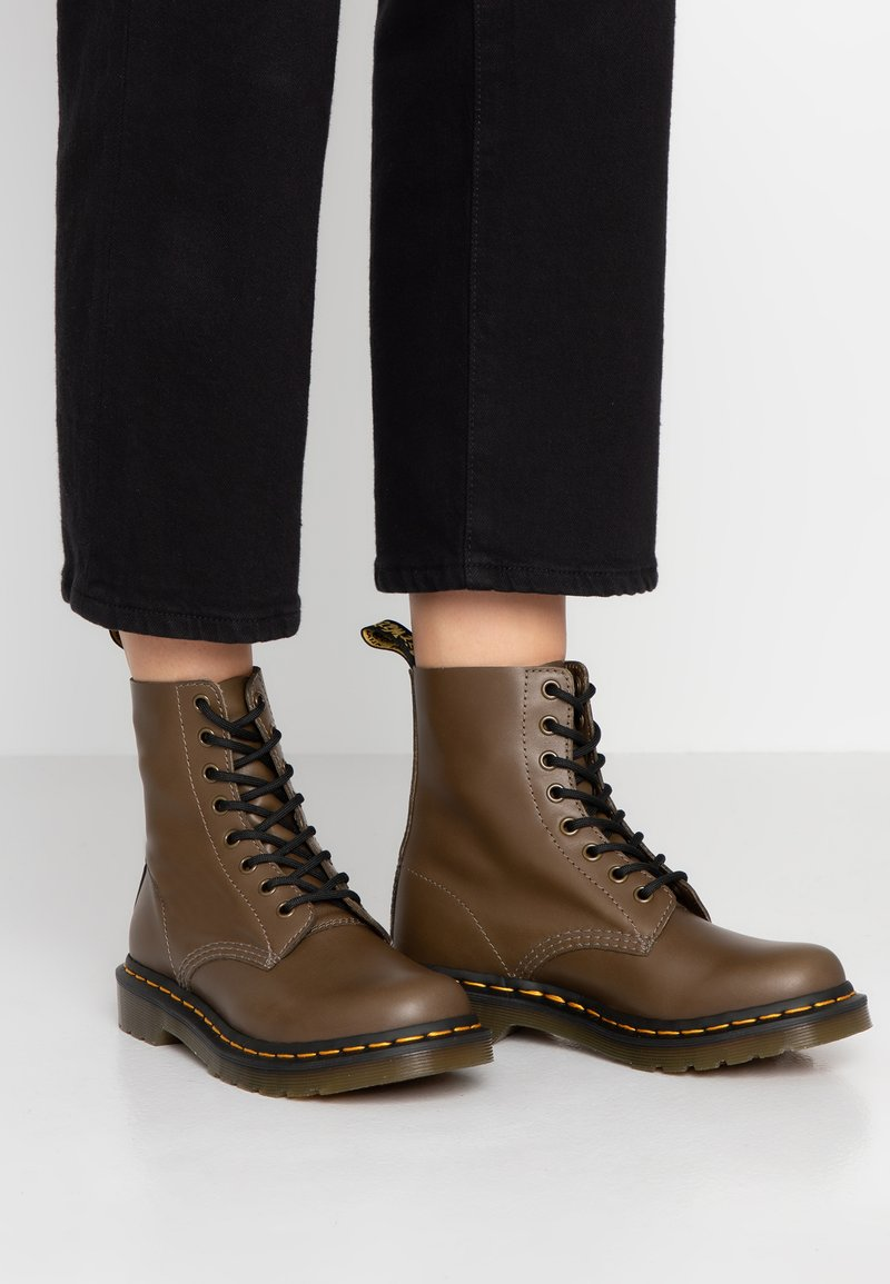 Dr. Martens - 1460 PASCAL - Lace-up ankle boots - olive
