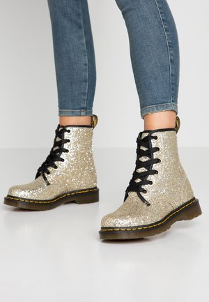 1460 FARRAH - Lace-up ankle boots - gold chunky glitter