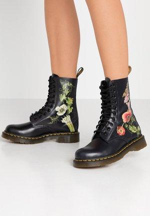 1490 - Bottines à lacets - black
