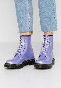 Dr. Martens - 1460 VEGAN 8 EYE BOOT - Lace-up ankle boots - purple heather/opaline - 0