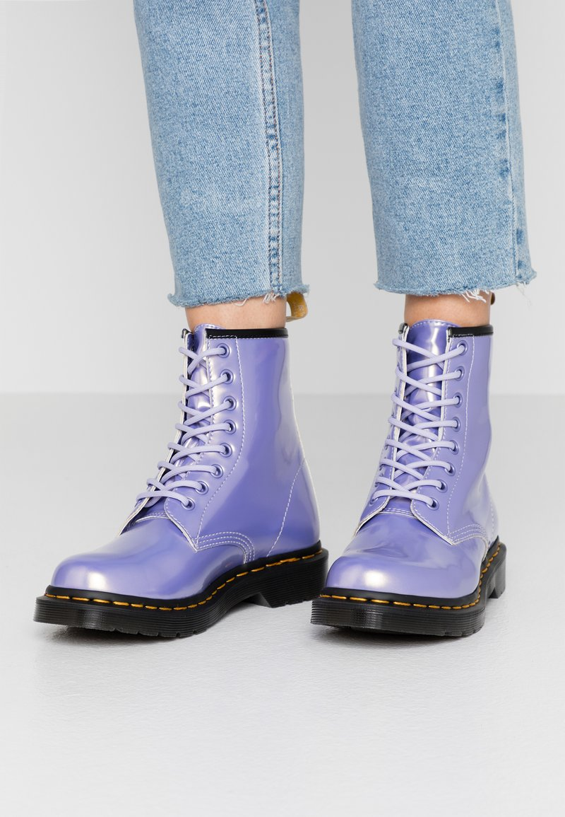 Dr. Martens - 1460 VEGAN 8 EYE BOOT - Lace-up ankle boots - purple heather/opaline