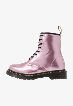 1460 VEGAN - Lace-up ankle boots - pink/goldmix