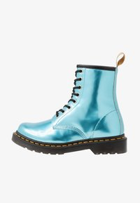 Dr. Martens - 1460 VEGAN 8 EYE BOOT - Lace-up ankle boots - blue/goldmix - 1