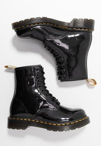 Dr. Martens - 1460 VEGAN 8 EYE BOOT - Lace-up ankle boots - black/opaline - 3