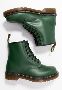 Dr. Martens - 1460 BOOT - Lace-up ankle boots - green smooth - 3