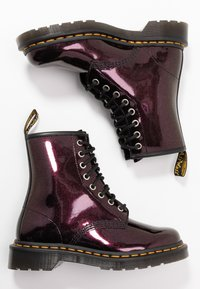 Dr. Martens - 1460 8 EYE BOOT - Lace-up ankle boots - purple/royal sparkle - 3
