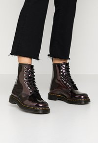 Dr. Martens - 1460 8 EYE BOOT - Lace-up ankle boots - purple/royal sparkle - 0