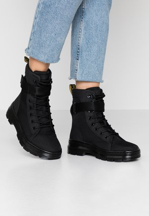 COMBS TECH - Platform ankle boots - black