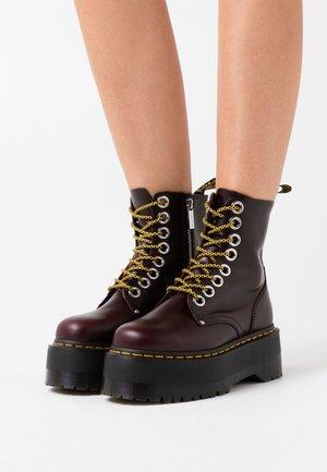 JADON MAX - Platform ankle boots - oxblood