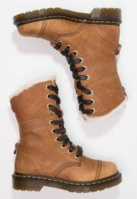 Dr. Martens - AIMILITA 9 EYE TOE CAP BOOT - Lace-up boots - tan - 2