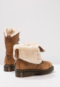 Dr. Martens - AIMILITA 9 EYE TOE CAP BOOT - Lace-up boots - tan - 7