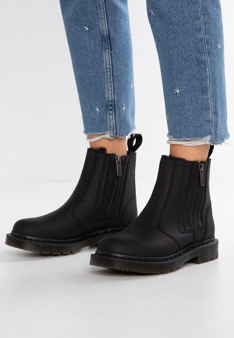 Dr. Martens - 2976 ALYSON ZIPS SNOWPLOW - Classic ankle boots - black