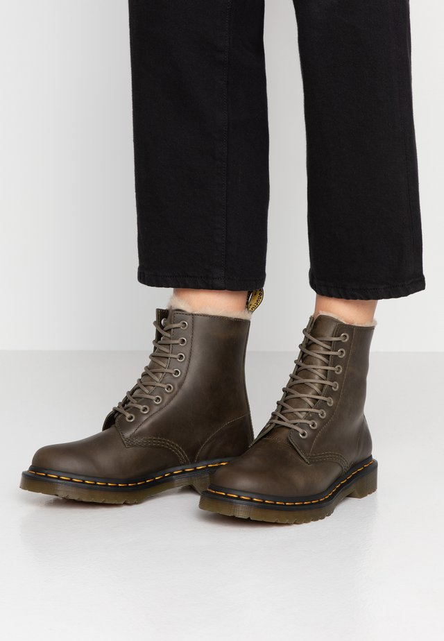 1460 SERENA - Lace-up ankle boots - olive