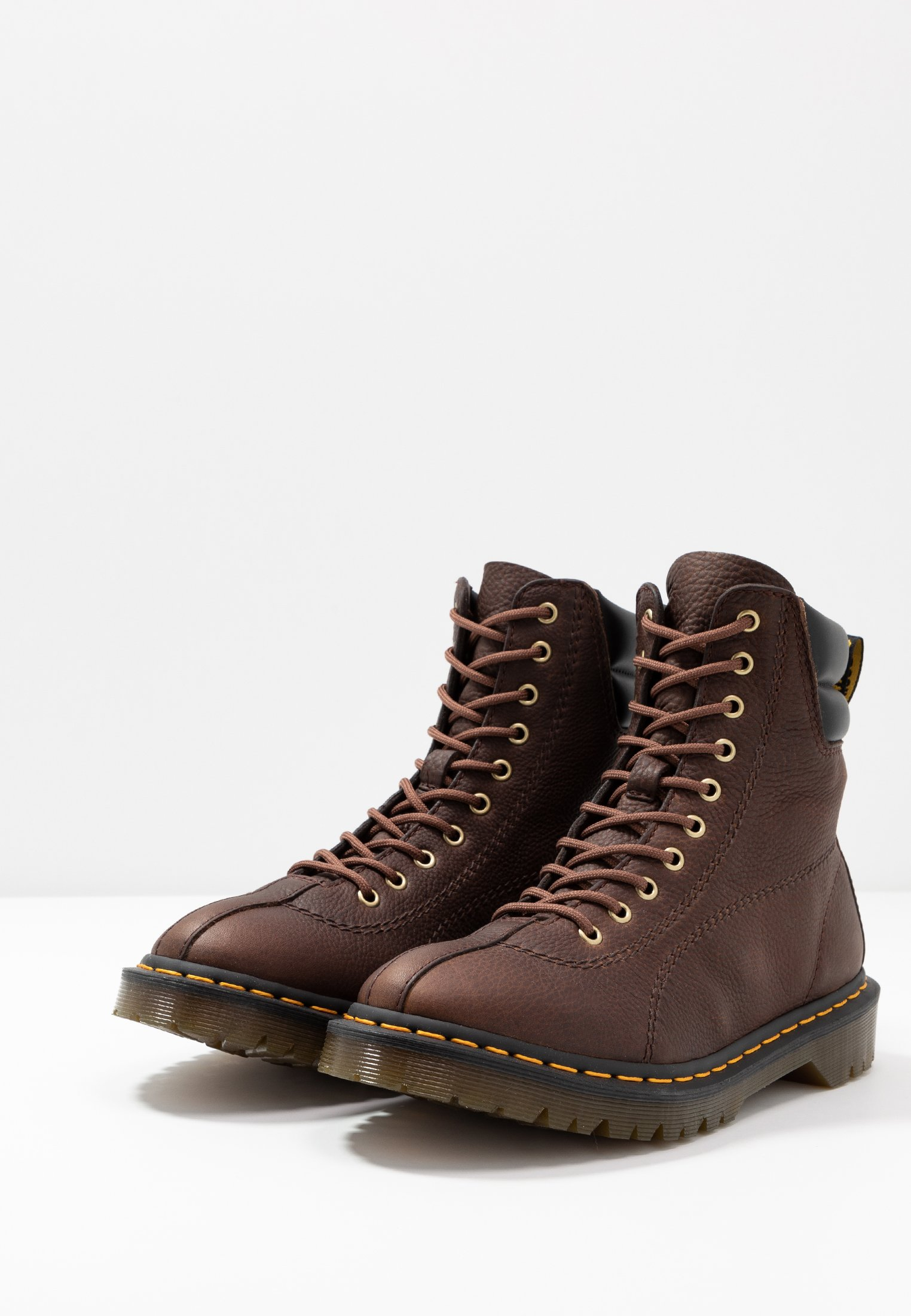 DrMartens à brown SANTOBottines lacets black dark 6Ybf7yg