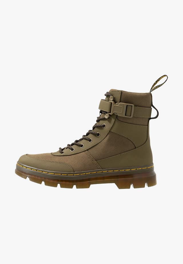 COMBS TECH - Lace-up ankle boots - olive