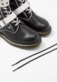 Dr. Martens - 1490 JOSKA STUD - Lace-up boots - black milled/vintage smooth/white smooth - 5