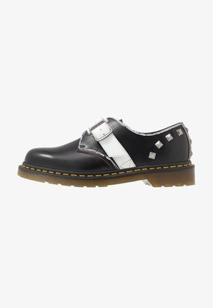1461 ZAMBELLO STUD - Lace-ups - black/white