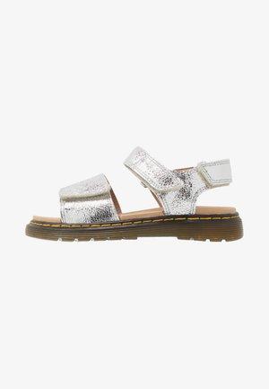 ROMI - Sandales - silver crinkle metallic