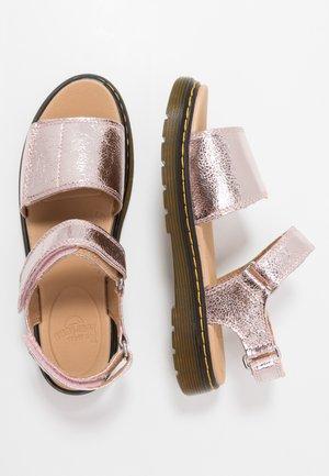 ROMI  - Sandals - pink salt/crinkle metallic