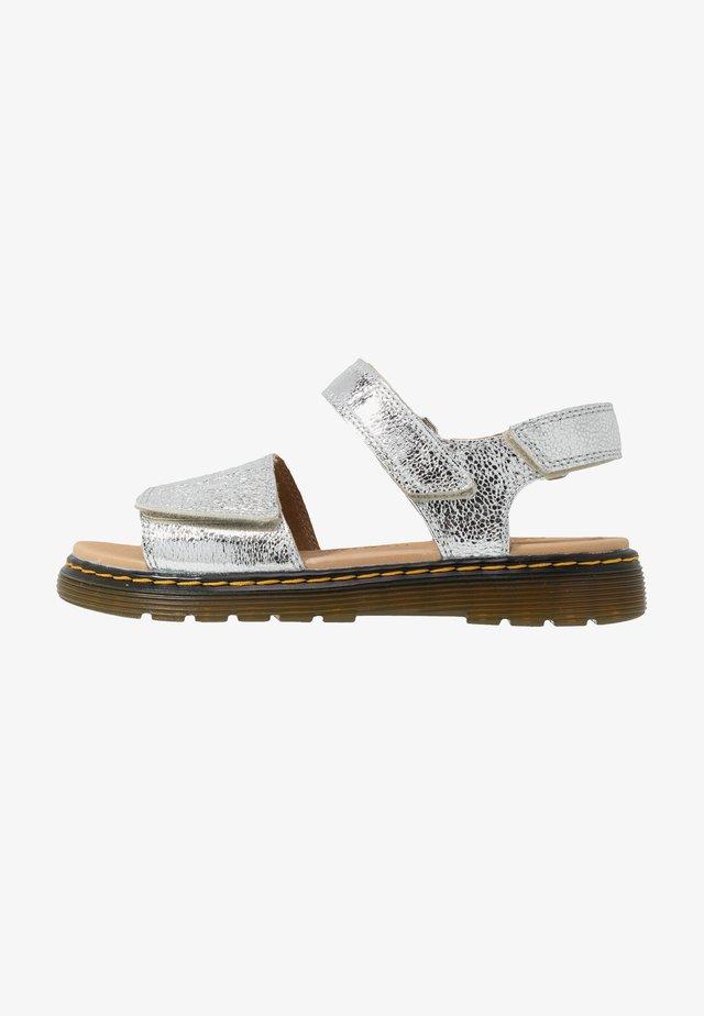 ROMI  - Sandaalit nilkkaremmillä - silver metallic